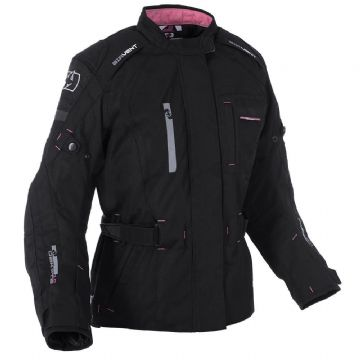 Oxford Dakota Women's Waterproof Textile Motorcycle Jacket Tech Black
